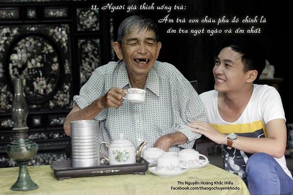 Người già thích uống trà: Ấm trà con cháu pha đó chính là ấm trà ngọt ngào và ấm nhất
