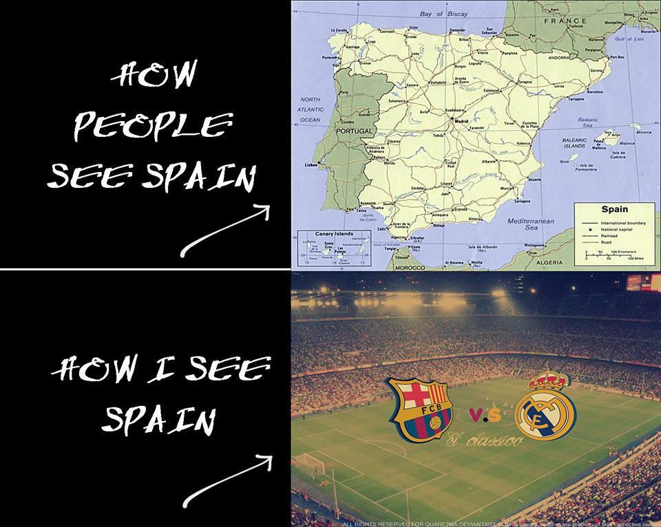 Cách CĐV bóng đá nhìn vào Tây Ban Nha