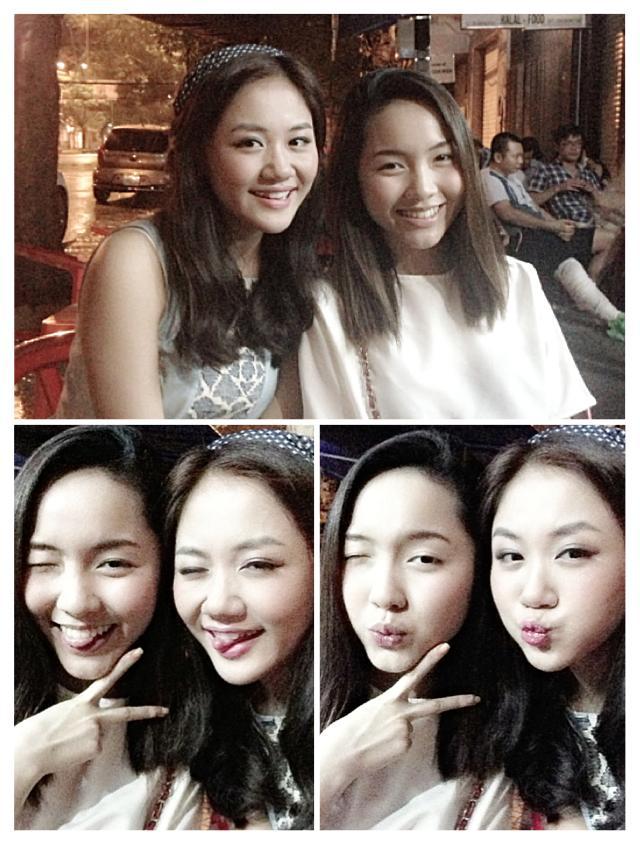 Văn Mai Hương khoe ảnh chị em sinh đôi
