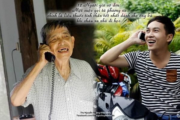 Người già cô đơn: Một cuộc gọi từ phương xa chính là liều thuốc tinh thần tốt nhất dành cho ông bà khi chái xa nhà đi học