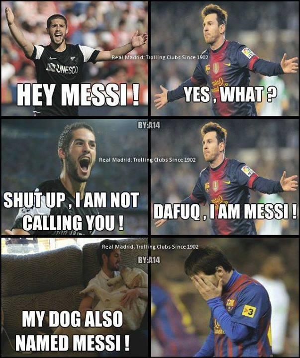 Messi bị troll, Isco gọi chó chứ đâu có gọi anh