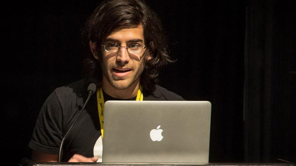 Aaron Swartz lúc còn sống.