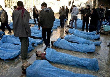 Các thi thể được tìm thấy ở Aleppo