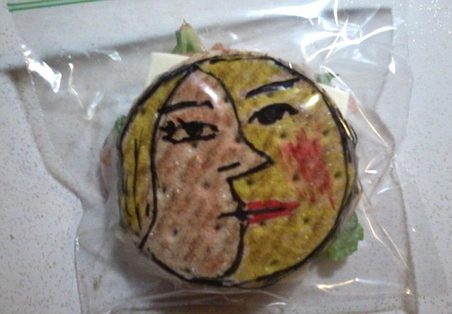 Face value: For almost five years, the father has doodled on his sons sandwich bags