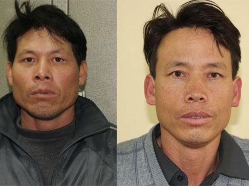 Ông Đoàn Văn Vươn (trái) và ông Đoàn Văn Quý (phải) cùngngười thân sẽ được 8 luật sư bảo vệ