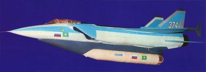 Mô hình Hệ thống phóng cơ động Mig-31I và tên lửa đẩy ISIM (Photo of www.airwar.ru)
