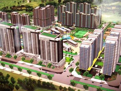 Phối cảnh khu nhà ở xã hội tại Khu đô thị Bắc An Khánh của Vinaconex