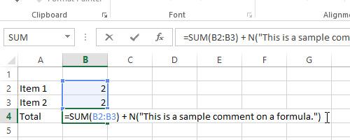 Thêm chú thích vào bảng tính trên Excel 2013 1