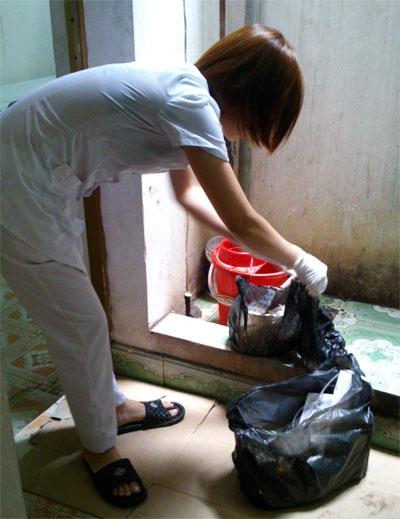 Số rác thải y tế mà Phòng khám đa khoa phía Nam             đã vứt lẫn với rác sinh hoạt