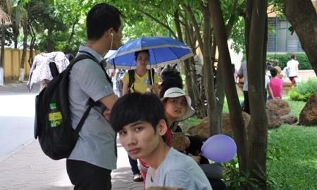 sinh viên, nắng nóng, chống nóng, hè