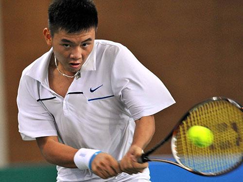 Hoàng Nam lần đầu vào vòng chính Giải Men's Future ở nước ngoài. Ảnh: NGỌC LINH