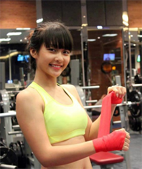 hot girl, nu boxing, hot girl Kha Ngan, hot girl boxing, nguoi dep boxing, Kha Ngan
