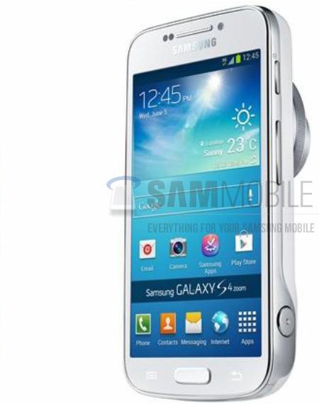 """Rò rỉ thiết kế """"cồng kềnh"""" của Galaxy S4 Zoom"""