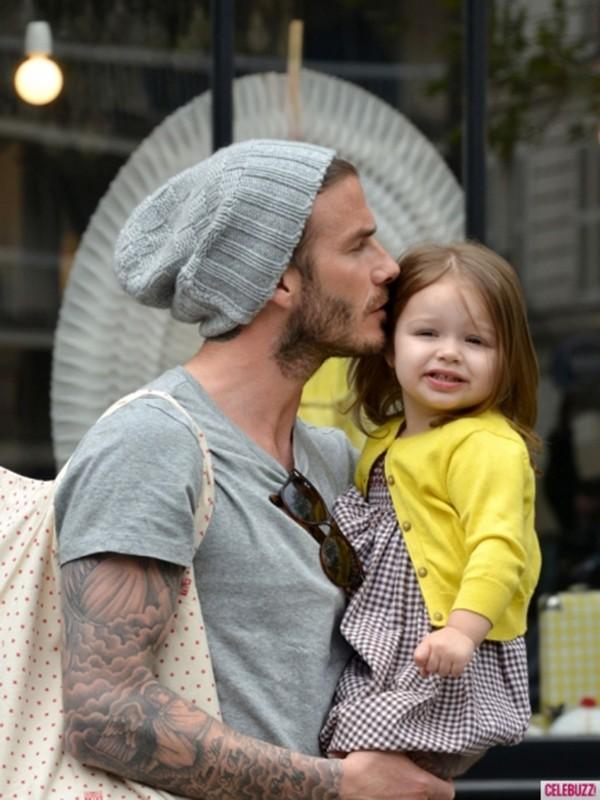 Harper Seven và những hình ảnh cực cute bên bố Becks 1