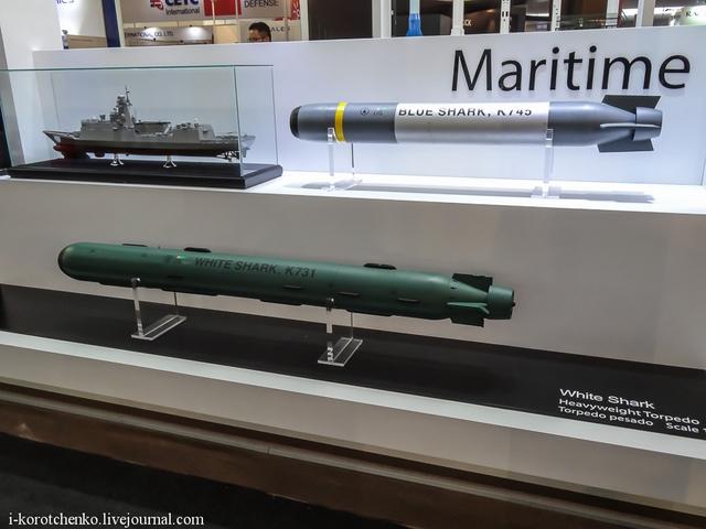 Ngư lôi chống ngầm Cá mập xanh (Blue Shark) được thả từ máy bay trực thăng hoặc máy bay tuần tra biển