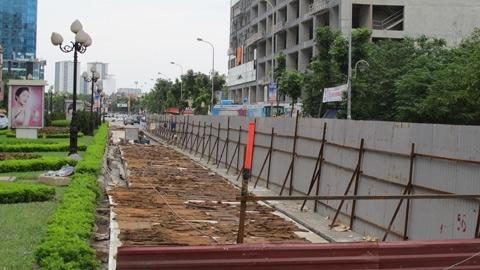 buýt nhanh, thất thoát, đào lên, Lê Văn Lương, Hà Nội
