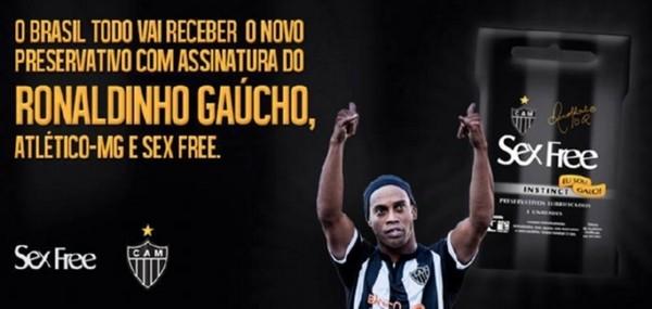 Bắt chước Beckham, Ronaldinho kinh doanh… bao cao su 1