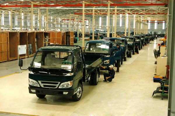 Dây chuyền sản xuất ô tô tải của Công ty CP ô tô Trường Hải tại Khu kinh tế Chu Lai