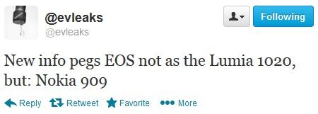 Lumia EOS sẽ mang tên Lumia 909 3