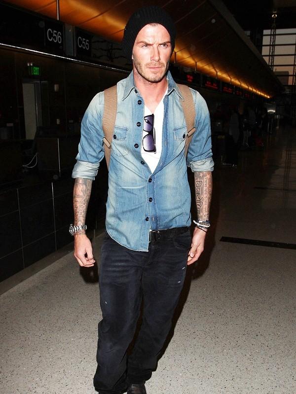 Bí quyết diện jeans của Beckham 7