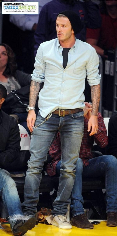 Bí quyết diện jeans của Beckham 9