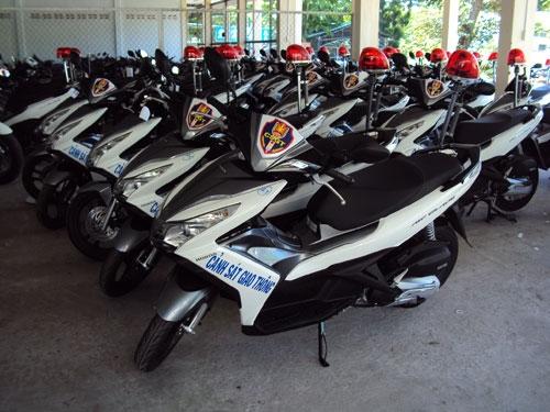 Số xe AirBlade được Công an Tiền Giang trang bị cho CSGT