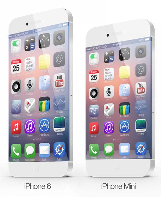 Táo bạo mô hình iPhone 6 không có phím Home