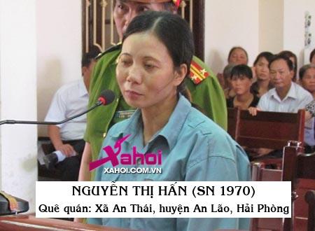 Nguyễn Thị Hấn trước vành móng ngựa