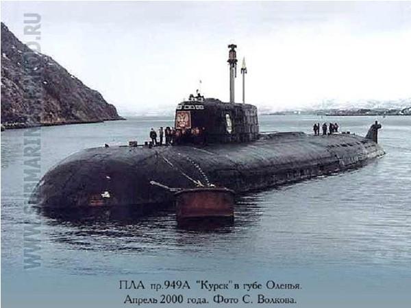 """Bức ảnh cuối cùng của K-141 """"Kursk"""" trên biển Barents"""