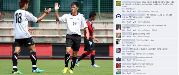 Fanpage Sapporo ca ngợi Công Vinh bằng Tiếng Việt sau 2 bàn thắng 2