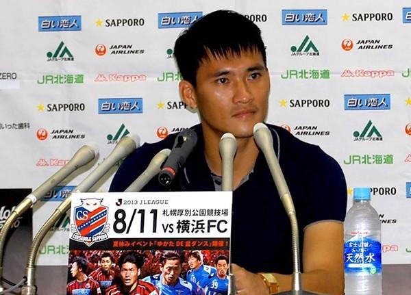 Fanpage Sapporo ca ngợi Công Vinh bằng Tiếng Việt sau 2 bàn thắng 4