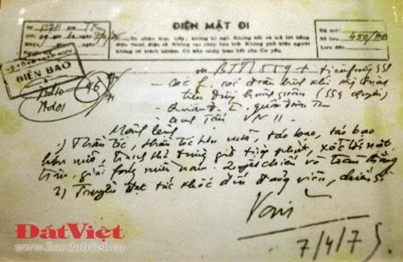 Bút tích của Đại tướng ngày 7/4, trước khi Chiến dịch Hồ Chí Minh được tiến hành:
