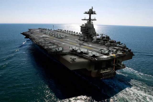 Hình ảnh đồ họa tàu sân bay USS Gerald R. Ford CVN-78 của Mỹ