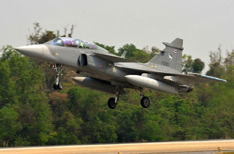 Tiêm kích JAS-39 Gripen của Không quân Hoàng gia Thái Lan