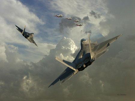 """Mỹ cho """"chim ăn thịt F-22"""" tham chiến với MiG-21"""