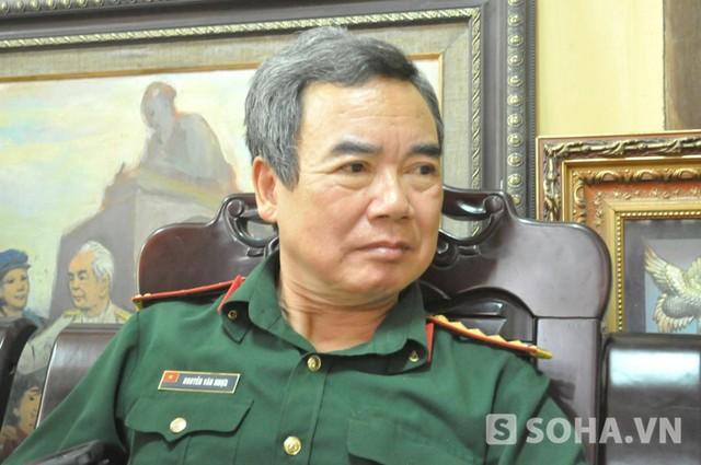 Đại tá Nguyễn Văn Nhựa - Bác sỹ bảo vệ sức khoẻ Đại tướng Võ Nguyên Giáp (Ảnh: Tuấn Nam)