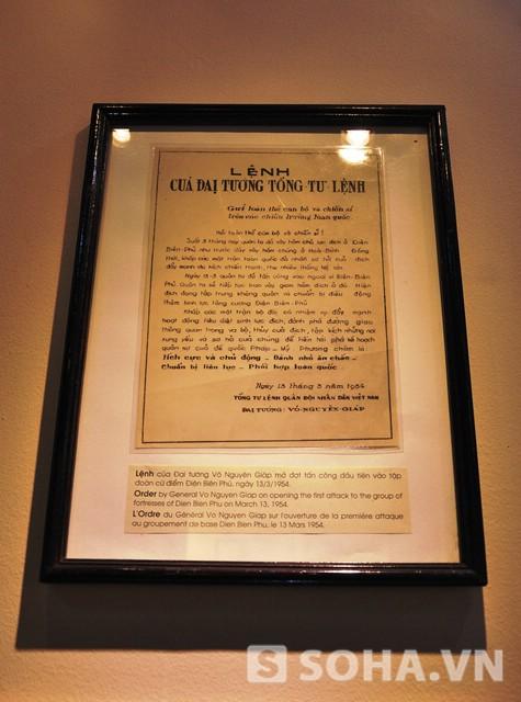Lệnh của Đại tướng Võ Nguyên Giáp mở đợt tấn công đầu tiên vào tập đoàn cứu điểm Điện Biên Phủ, ngày 13/3/1954