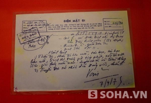 Bút tích ngày 7/4/1975 của Đại tướng Võ Nguyên Giáp: