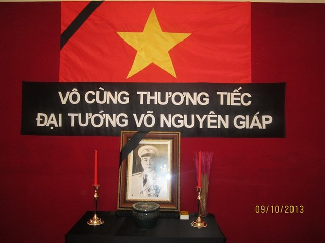 Bàn thờ Đại tướng bên trong Đại sứ quán Việt Nam tại Algeria