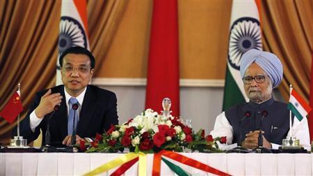 Thủ tướng Trung Quốc Lý Khắc Cường nhóm họp cùng Thủ tướng Ấn Độ Manmohan Singh hôm 20/5.
