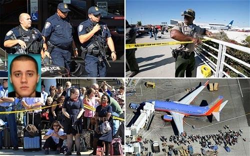 Mỹ, Los Angeles, sân bay, nổ súng, tự tử, hung thủ