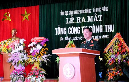 Thượng tướng Lê Hữu Đức phát biểu tại buổi lễ