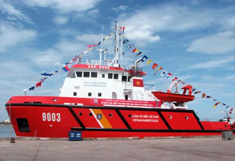 Tàu CSB 9003 do Công ty Sông Thu đóng mới cho lực lượng Cảnh sát biển Việt Nam