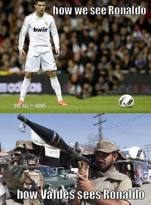 Đây là cách Valdes nhìn Cris Ronaldo