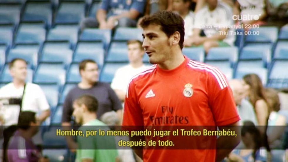 Ảnh Casillas nói mỉa Lopez và Ancelotti