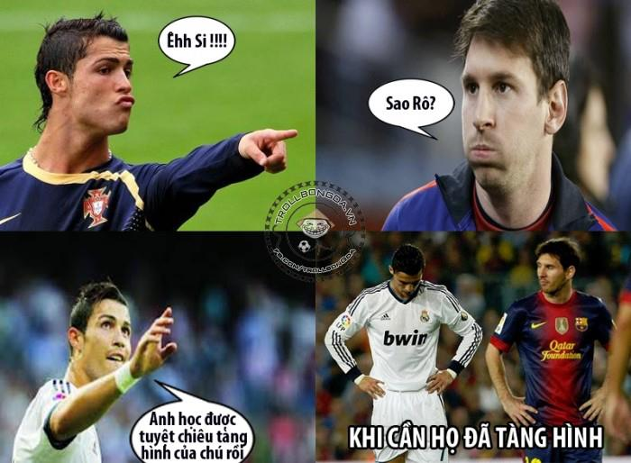 Kỹ năng mới của Messi và CR7