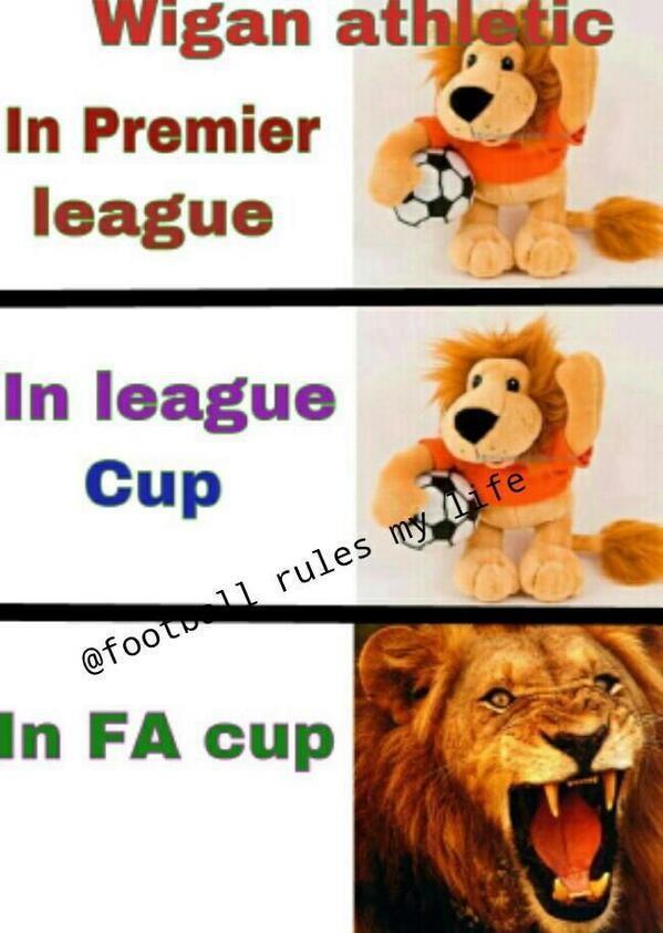Khi Wigan tham gia đấu cúp