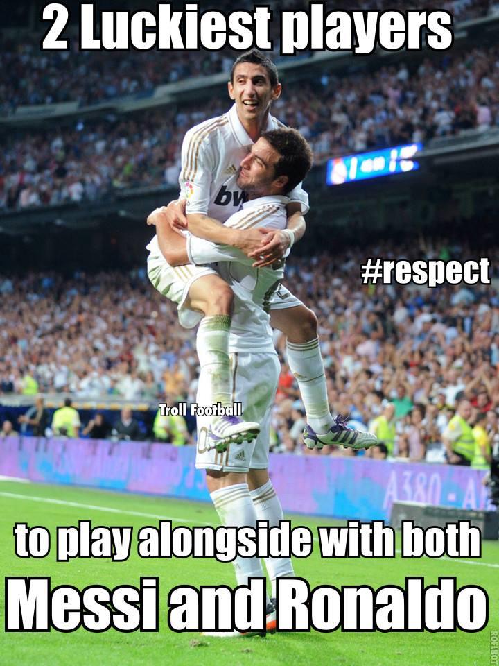 Họ là 2 cầu thủ may mắn nhất thế giới khi cùng một lúc được làm đồng đội của cả Messi và Ronaldo