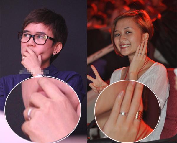 Chiếc nhẫn đeo ở ngón áo út của Thiều Bảo Trang và Phương Uyên bị 'nghi' là nhẫn đôi