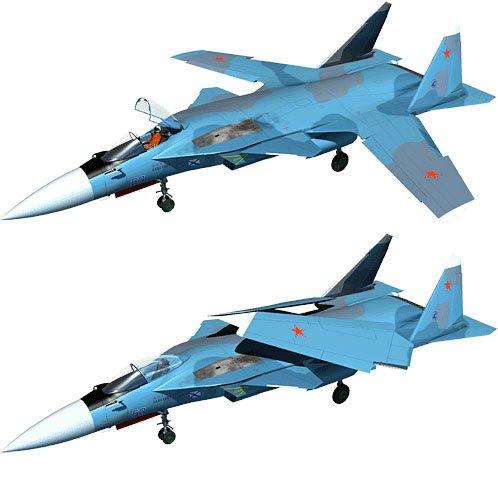 Cận cảnh thiết kế Su-47 phiên bản trên hạm của Nga.